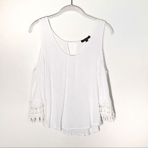 Ambiance blouse cold shoulder white